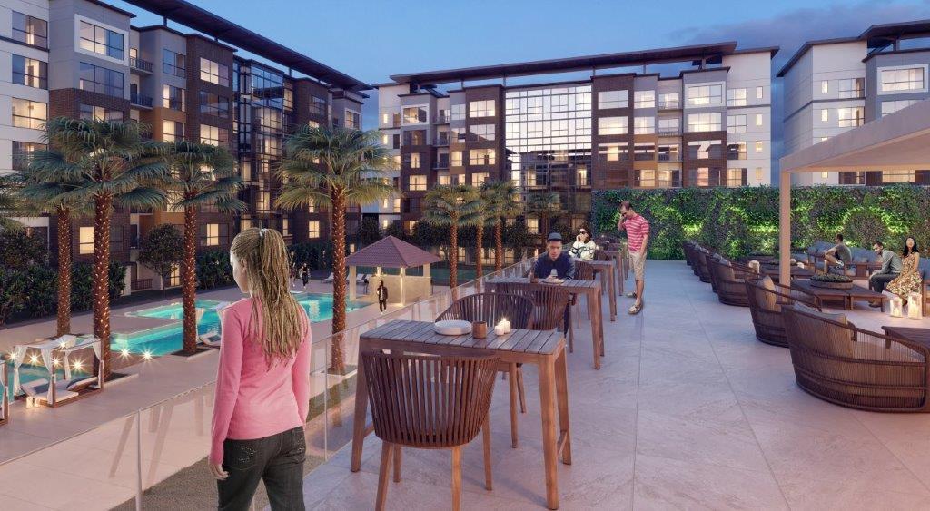 sycamore condo hotel patio area